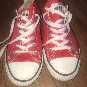 Red converse sneakers in great shape